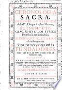 Chronologia sacra, origen de la religion de los PP. clerigos regl. menores