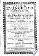 Clarín avangélico panegírico de todas las festividades