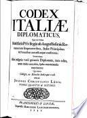 Codex Italiae diplomaticus