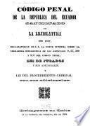 Código penal de la republica del Ecuador