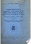 Coincidencias gramaticales y lexicográficas de las lenguas precolombianas de América, entre sí, y con las de allende los mares