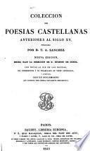 Colección de poesías castellanas anteriores al siglo XV