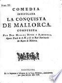 Comedia intitulada La conquista de Mallorca