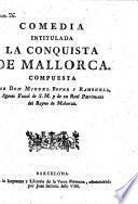 Comedia intitulada: La conquista de Mallorca