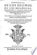 Comentarios de los hechos de los españoles, franceses, y venecianos en Italia, y de otras Republicas, potentados, principes, y capitanes famosos italianos