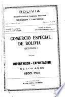 Comercio Especial de Bolivia