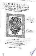 Commentaria Ioannis Matienzo regii senatoris in cancellaria Argentina Regni Peru in librum quintum recollectionis legum Hispaniae