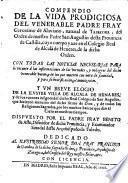 Compendio de la vida de ... fray Geronimo de Alvariano
