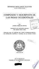 Compendio y Descripcion de Las Indias Occidentales