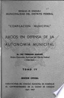 Compilación legislativa municipal: Torrealba Narvaez, L. Juicios en defensa de la autonomía municipal