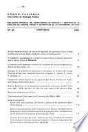 Comunicaciones - Universidad de Chile, Departmento de Geología