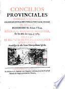 Concilios Provinciales primero y segundo celebrados en la Ciudad de Mexico 1555 y 1556