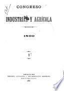 Congreso industrial y agrícola. 1899. I.