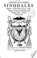 Constituciones sinodales del Obispado de Lugo