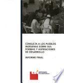 Consulta a los pueblos indígenas sobre sus formas y aspiraciones de desarrollo
