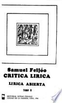 Crítica lírica: Lírica abierta