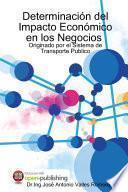Cuantificaci—n y Determinaci—n del Impacto Econ—mico en los Negocios, Originado por el Sistema de Transporte Publico