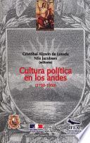 Cultura política en los Andes (1750-1950)