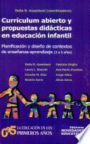 Currículum abierto y propuestas didácticas en educación infantil (3 a 5 años)
