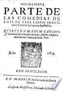 Decima sexta parte de las comedias de Lope de Vega Carpio