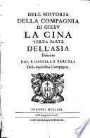 Dell'historia della Compagnia di Giesú