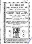 Destierro de ignorancias, y aviso de penitentes