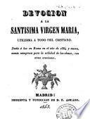 Devoción a la Santísima Vírgen Maria