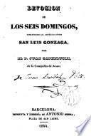 Devoción de los seis domingos consagrados al angélico jóven San Luis Gonzaga