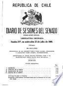 Diario de sesiones del Senado