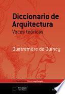 Diccionario de arquitectura: voces teóricas