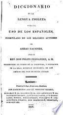 Diccionario de la lengua ingleza para el uso de los españoles