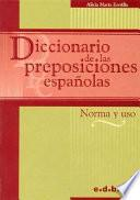 Diccionario de las preposiciones españolas