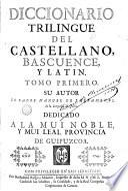 Diccionario triligüe del castellano, bascuence y latín, 1