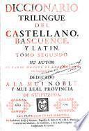 Diccionario triligüe del castellano, bascuence y latín, 2