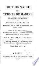 Dictionnaire des termes de marine français-espagnols et espagnols-français