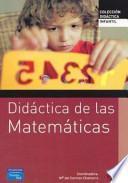 Didáctica de las matemáticas para educación infantil