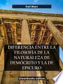 Diferencia entre la filosofía de la naturaleza de Demócrito y la de Epicuro