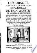 Discurso sobre las tragedias Espanolas