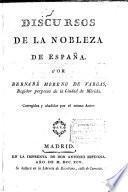 Discursos de la nobleza de España