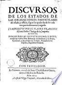 Discursos de los estados de las obligaciones particulares del Estado ...