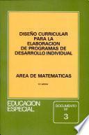 Diseño curricular para la elaboración de programas de desarrollo individual
