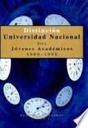 Distinción Universidad Nacional para Jóvenes Académicos 1989-1998