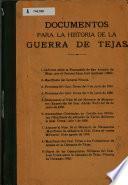 Documentos para la historia de la guerra de Tejas
