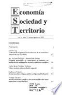 Economía, sociedad y territorio