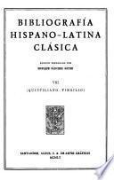 Edición nacional de las obras completas de Menéndez Pelayo: Bibliografía hispano-latina clásica