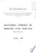 Ejecutorias supremas de derecho civil peruano: Años 1953-54-55