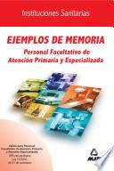 Ejemplos de Memoria. Personal Facultativo. Ope Extraordinaria.e-book.