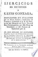 Ejercicios de devocion a S. Luis Gonzaga