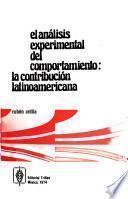 El análisis experimental del comportamiento