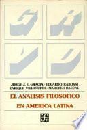 El Análisis filosófico en América Latina